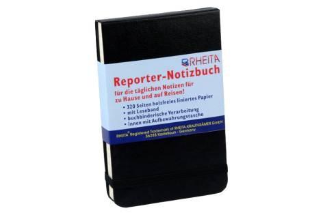 Notiz-Kladde 9x14cm lin. 320 Seiten schwarz