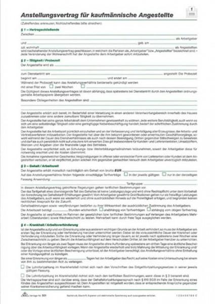 Anstellungsvertrag Kfm von Rnk