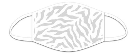 Mund Nasen Maske aus Stoff, Tiger weiß, waschbar bis 70°, kein Medizinprodukt