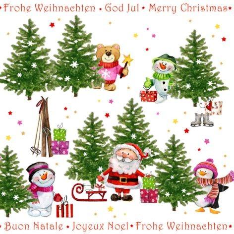 Serviette 33x33cm 20Stück Weihnachten Atelier