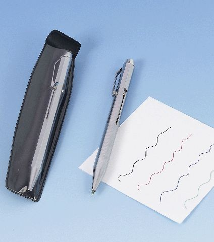 Vierfarb-Kugelschreiber Padova Ganzmetall silber