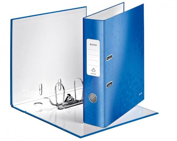 Leitz Ordner WOW, A4, breit, blau metallic - Qualitäts-Ordner von Leitz