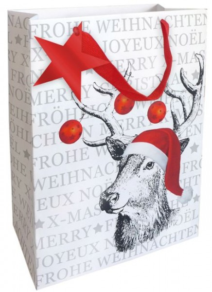 Tragetasche 25x33x11cm Weihnachten Lack