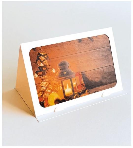 """Lichterzauber Weihnachtskarte """"Laterne"""", Stimmungsvolle Handmade Karte"""