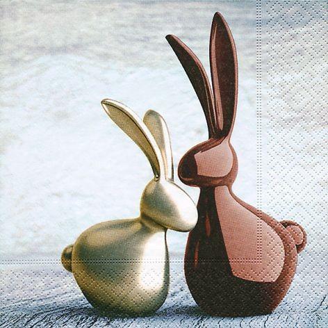 Serviette 33x33cm 3-lagig Bunny award 20 Stück