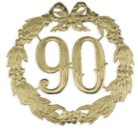 Jubiläums-Zahl 24Cmd 90 gold