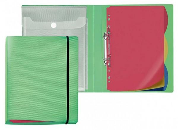 Ringbuch Arbeitsmappe A4 PP Diamond 20mm grün