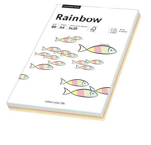 Kopierpapier Sky Rainbow A4 80g 5x20 Blatt mix