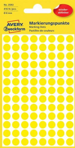 Markierungspunkte 8mm ablösbar 416ST gelb