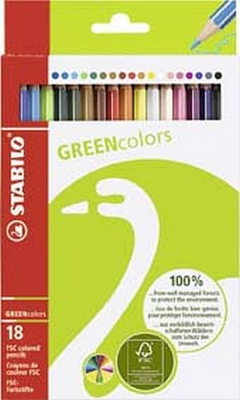 Farbstift Greencolors 18Er-Sc 60192181 Stabilo