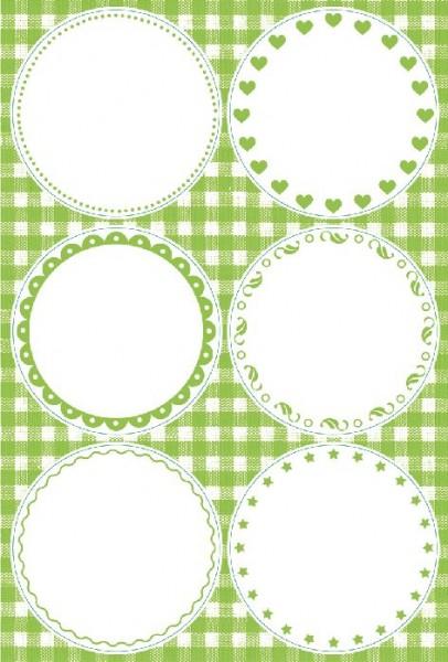 Decor-Sticker Blanko grün 24ST 5,3cm Durchmesser