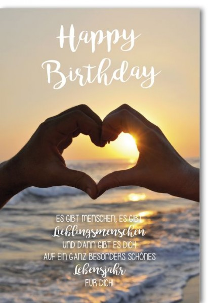 Karte Geburtstag Motiv Serie Time of your Life
