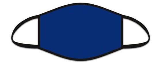 Mund Nasen Maske aus Stoff, uni Blau, waschbar bis 70°, kein Medizinprodukt