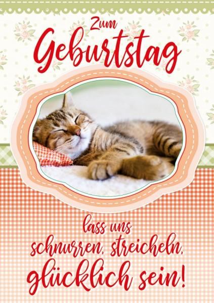 """Great Cards """"Streichelkatze - Streichel mein Fell, los jetzt"""" - Geburtstagskarte mit Touch"""