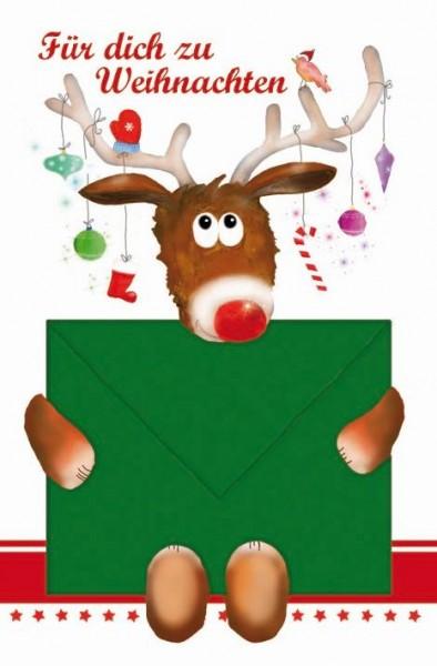 Karte Weihnachten Motiv Geldbrief Auto mit