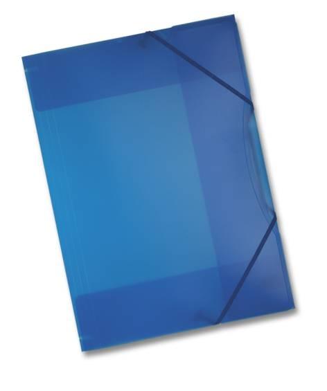 Sammel-Mappe A3 mit Gummi Band Kunststoff blau