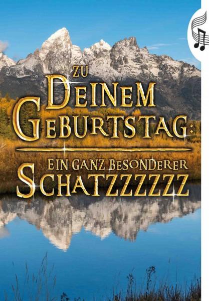 """Geburtstagskarte mit Musik & Licht """"Herr der Ringe"""", Din A5- Musikkarte"""