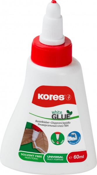Bastelkleber White Glue 60ml Kores