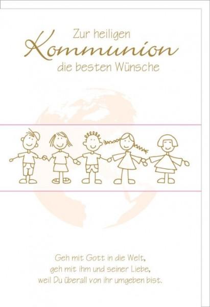 Karte Kommunion Kinderreigen
