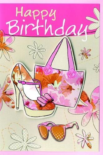 Karte Geburtstag Motiv Illustration mit Damen