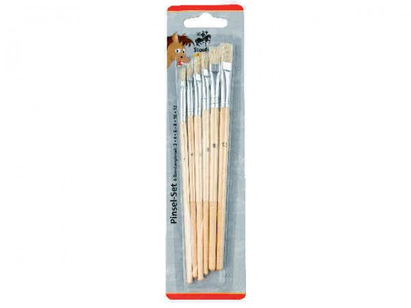Schulpinsel, Bostenpinsel-Set, 6er Packung Malpinsel (Größen 2-4-6-8-10-12)