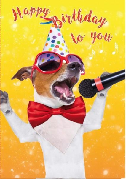 Touch Grußkarte, Geburtstagskarte mit Musik auf Berührung - Happy Birthday....