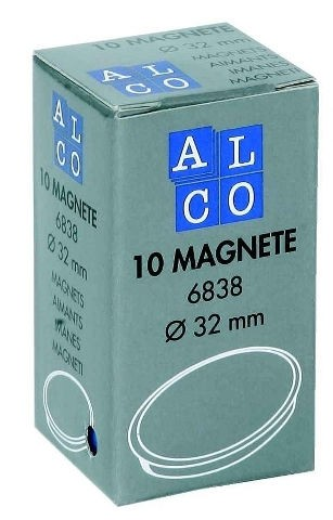 Magnet 32mm 10er weiss