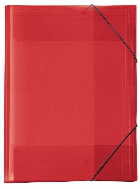Größe: 305 x 430 x 30 mm Sammelmappe A3 CRYSTAL rot für: DIN A3 Veloflex; ...