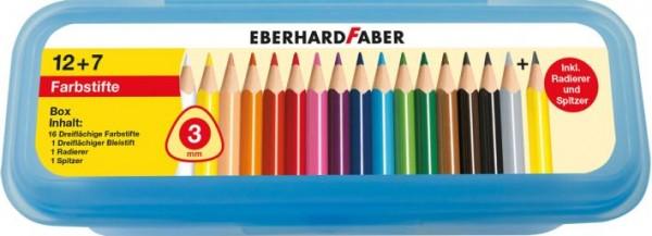 Farbstift 3-kant 19tlg in Box 511417