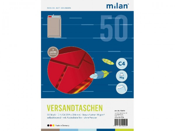 Versandt Milan C4 90g HK 50er Natron braun