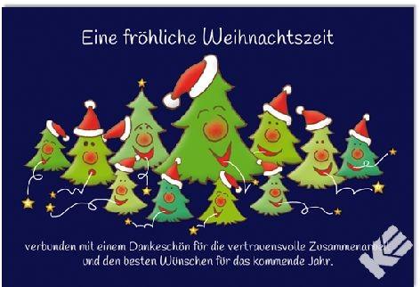 Karte Weihnachten Motiv Geschäftskarte quer