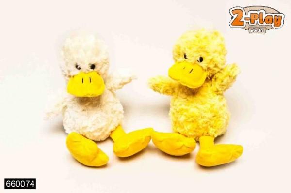 Plüschfigur Ente weiss und gelb sortiert