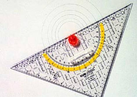 Geodreieck Circlet gross 493C 22cm mit Griff KUM
