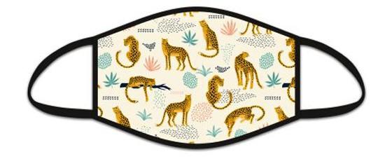 Mund Nasen Maske aus Stoff, Motiv Savannah, waschbar bis 70°, kein Medizinprodukt