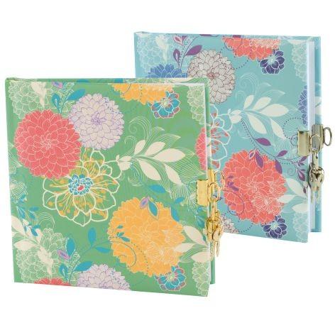 Tagebuch mit Schloss Florence Blumen 2 Motive