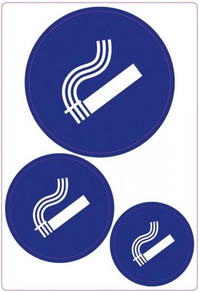 Etikett Hinweis Rauchen erlaubt 3 Stück