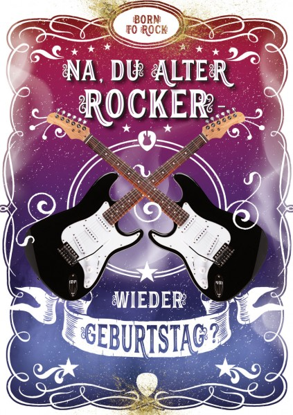 "Great Cards ""Gitarre - Smoke on the Water"" - Geburtstagskarte mit Funktion"