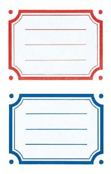 Heftschild Buch-Etikett Rahmen bunt 6ST 3Bogen
