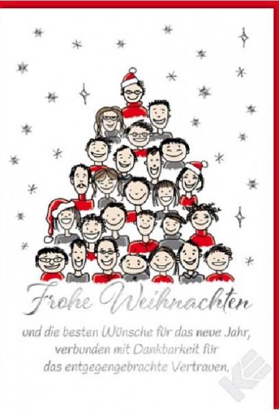 Karte Weihnachten.Karte Weihnachten Motiv Geschaftstext