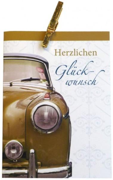Karte Geburtstag Motiv Klammerkarte Old Car