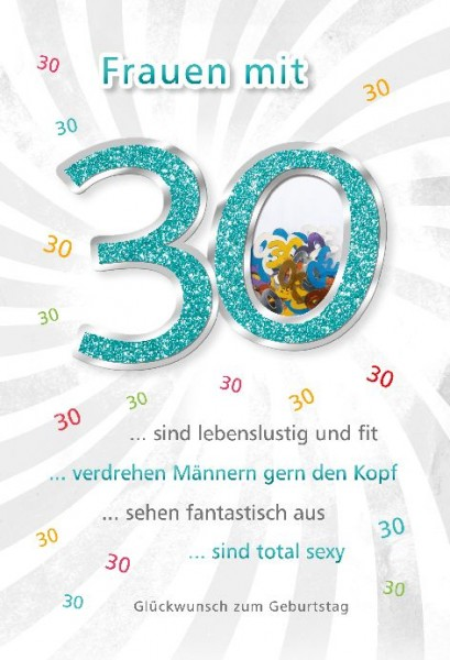 Geburtstag karte zum 30