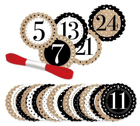 Anhänger Set Numbers 5cm durchmesser *