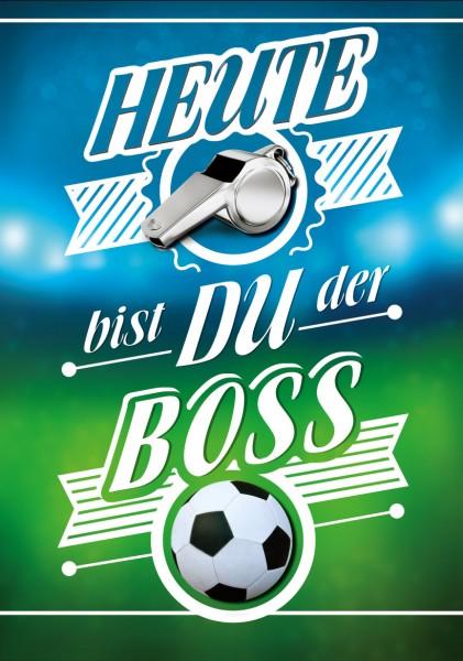 """Great Cards """"Fussball - Heute bist Du der Boss"""" - Geburtstagskarte mit Funktion"""