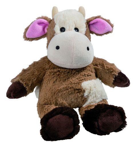 Wärmestofftier Kuh beige braun mit
