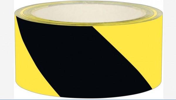Signalklebeband 5cm x 60m, gelb-schwarz, schräg gestreift, fluoriziernd