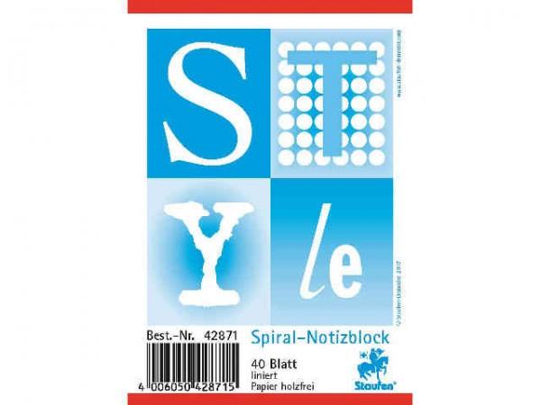 Spiral-Notizblock A7 40BL liniert