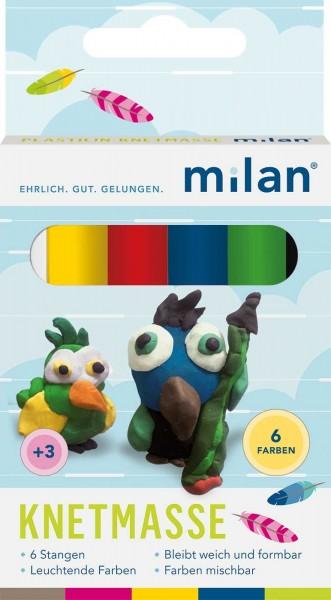 Milan Plastilin-Knetmasse 6er 308006