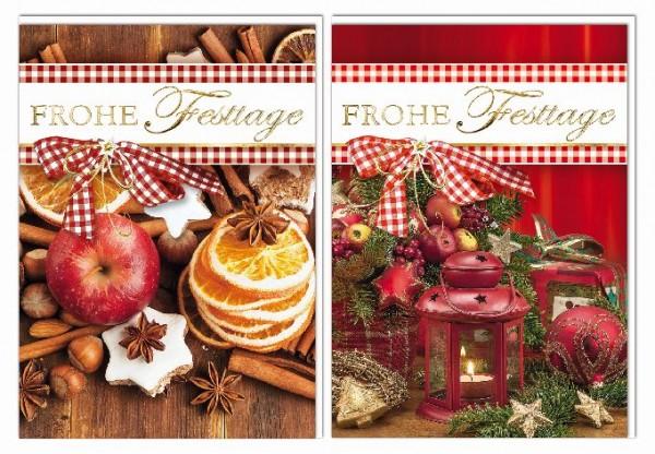 Karte Weihnachten Motiv 5er Beutel 2 Motive