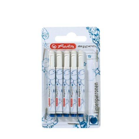 My Pen Ersatzpatronen für Füller & Roller, Tintenpatronen Herlitz