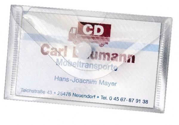 10 Stk Crystal Visitenkartenhülle Usb Stick Hülle Transparent 100x60mm